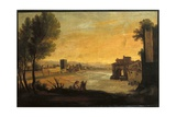 Sight of the Arno Bench and of Old Mint, 1800-25 Giclee Print