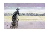 Study for 'Races' (Woman Standing on a Chair to See the Racetrack) Poster by Giuseppe De Nittis