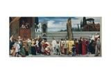 Celebrated Madonna by Cimabue Kunstdrucke von Frederick Leighton