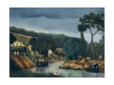 Bank of a River Art by Henri Rousseau
