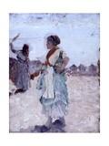 Waiting (Peasant Woman Carrying Water Jug) Affiches par Giuseppe De Nittis