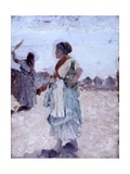 Waiting (Peasant Woman Carrying Water Jug) Posters by Giuseppe De Nittis