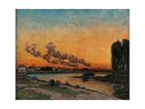 Sunset in Ivry Art by Jean-Baptiste-Armand Guillaumin