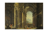 Mythological Scene Inside Perspective of a Baroque Palace Prints