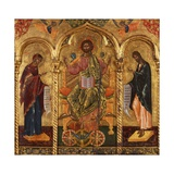 Christ Pantocrator, Virgin and St. John Prints by Onufri Qiprioti