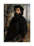 Portrait of Claude Monet Posters by Pierre-Auguste Renoir
