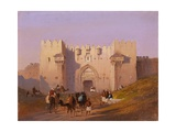 Jerusalem, Damascus Gate Art by Ippolito Caffi