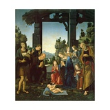 Adoration of the Child Print by Lorenzo di Credi
