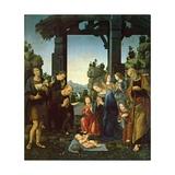 Adoration of the Child Print by Lorenzo di Credi