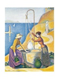 Women at a Well Giclee Print by Paul Signac