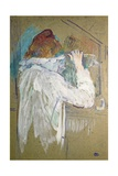 Woman Curling Her Hair Posters by Henri de Toulouse-Lautrec