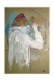 Woman Curling Her Hair Pósters por Henri de Toulouse-Lautrec