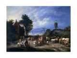 Village with Marketplace Giclee Print by Paul Bril