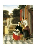 Mistress and Maid Giclee Print by Pieter de Hooch