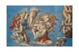 Sistine Chapel, the Last Judgment. Angels Announce Doomsday Giclee Print by Michelangelo Buonarroti