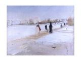 Avenue De Bois De Boulogne (Paris with Snow, Arc De Triomphe) Affiches par Giuseppe De Nittis
