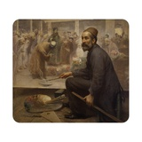 Self Portrait (Artist Painting a Great Canvas with a Dervish Ceremony) Art by Fausto Zonaro