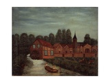 The Mill (River with Fishermen in Boat) Giclee Print by Louis Vivin