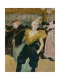 Cha-U-Kao at the Moulin Rouge (Female Clown) Giclee Print by Henri de Toulouse-Lautrec