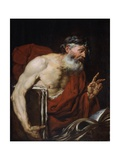 Philosopher (Old Bearded Man with Books) Prints by Giovanni Battista Langetti