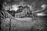 Honfleur-Fishing Net Photographic Print by David Bracher