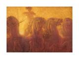 Gaetano Previati - Triptych of the Daytime. the Chariot of the Sun Umělecké plakáty