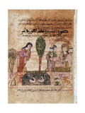 Story of Bayad and Riyad, 13-15th C. Iberian Islamic Miniature with Arabic Text Poster