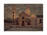 Church of Saint Pierre in Montmartre Kunstdruck von Louis Vivin