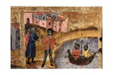 Saint Demetrio and the Transport of Wheat to Thessaloniki Print by Joani Cetiri