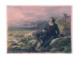 Byron Among the Ruins of Greece Giclee Print by Giovanni Carnovali (Piccio)