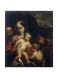 Holy Family with Child Saint John the Baptist Prints by Pasqualino Rossi