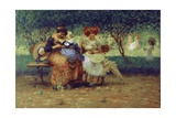 Our Children (Women and Babies on Park Bench) Prints by Angelo Dall'Oca Bianca