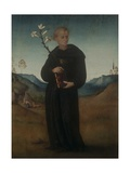St. Nicholas of to lentino (Holding Lily) Prints by Francesco (Bachiacca) Ubertini