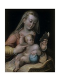 Virgin Mary Reading with Baby Jesus Prints by Barbara Longhi