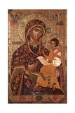 Mother of God with Child Print by Onufri Qiprioti
