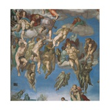 Sistine Chapel, the Last Judgment, Saved Souls Print by  Michelangelo Buonarroti