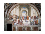 École d'Athènes Reproduction procédé giclée par Raphael Sanzio