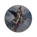 Chimera (Creature with Horse Body, Wings and Human Bust, Embraced Giclee Print by Gustave Moreau