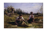 Haymaking (Women Gathering Hay) Prints by Demetrio Cosola