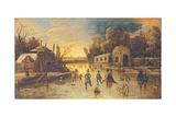 Landscape with Skaters, after Jan Van De Velde II Affiches