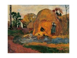 Yellow Sheaves Prints by Paul Gauguin