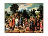 Healing of the Blind Man from Jericho Art by Lucas Van Leyden