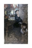 Mrs. De Nittis and Son (Painter's Wife and His Son) Posters by Giuseppe De Nittis