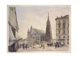 Saint Stephen's Cathedral in Vienna, 1832 Giclee Print by Rudolf Von Alt