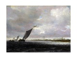 Sight on a River Giclee Print by Salomon Van Ruysdael