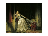 Furtive Kiss Reproduction procédé giclée par Jean-Honore Fragonard
