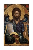 St. John the Baptist, Depicted with Wings, Camel Skin Giclee Print by Onufri Qiprioti
