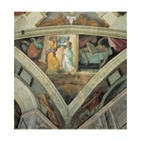 Sistine Chapel Ceiling, Judith and Her Servant after Killing Holofernes Giclee Print by Michelangelo Buonarroti