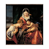 Mystical Marriage of Saint Catherine Posters by Lorenzo Lotto