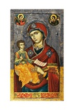 Mother of God with Child Prints by Onufri Qiprioti